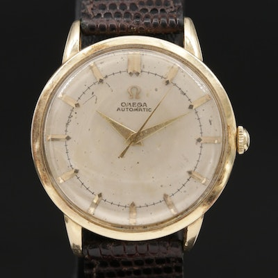 Vintage Omega 14K Gold Automatic Wristwatch, Circa 1952