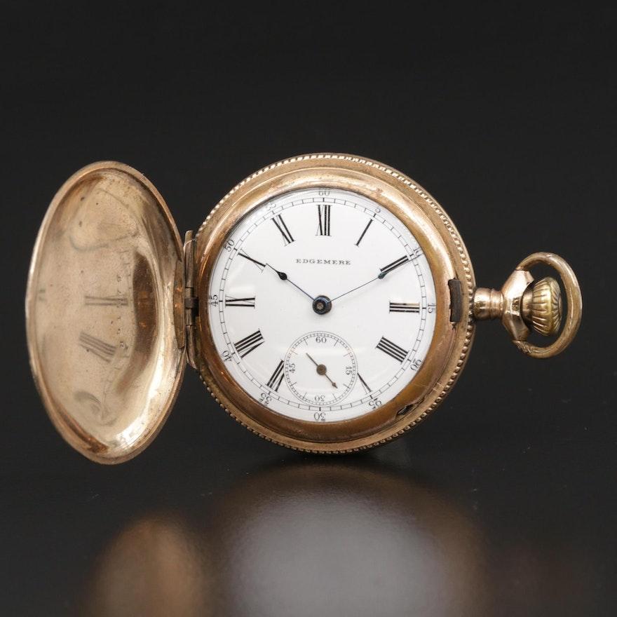 Edgemere Gold Filled Hunting Case Pocket Watch, Antique
