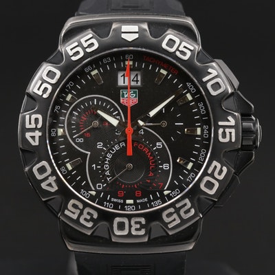 TAG Heuer Formula 1 Grande Date Stainless Steel Chronograph Quartz Wristwatch