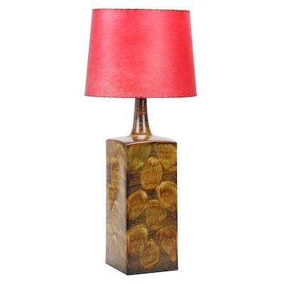 Art Pottery Ceramic Bottle Neck Vase Table Lamp