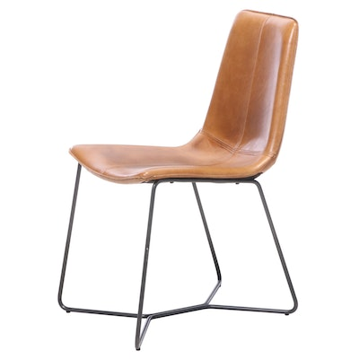 West Elm Slope Saddle Leather Dining Chair