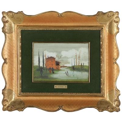 R. Comel Landscape Oil Painting