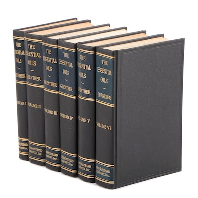 "First Edition ""The Essential Oils"" by Ernest Guenther, Complete Six Volume Set"