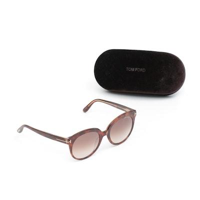 Tom Ford 56F Saskia Cat Eye Sunglasses with Case