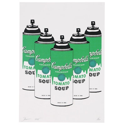"Death NYC Offset Lithograph ""5 Tomato Spray Green"""