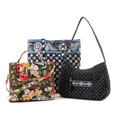 "Vera Bradley Quilted Bags in ""Poppy Fields"", ""Night Owl"" and ""Alpine Black"""