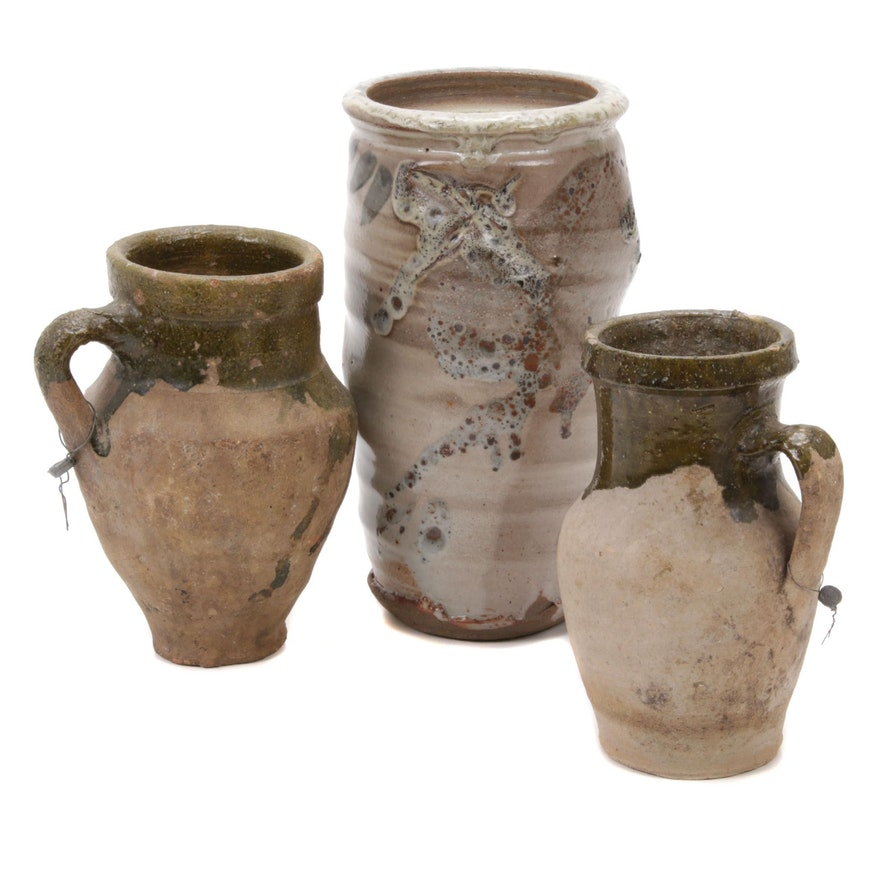 Glazed Earthenware Vases