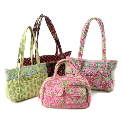 """Vera Bradley Quilted Cotton Bags in """"Pinwheel Pink"""" and Other Patterns"""