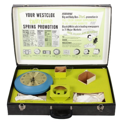"""Westclox """"Twin Time"""" Spring Promotional Briefcase"""