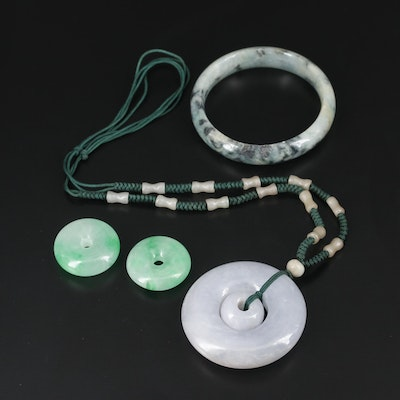 Jadeite Necklace, Bracelet and Pendants