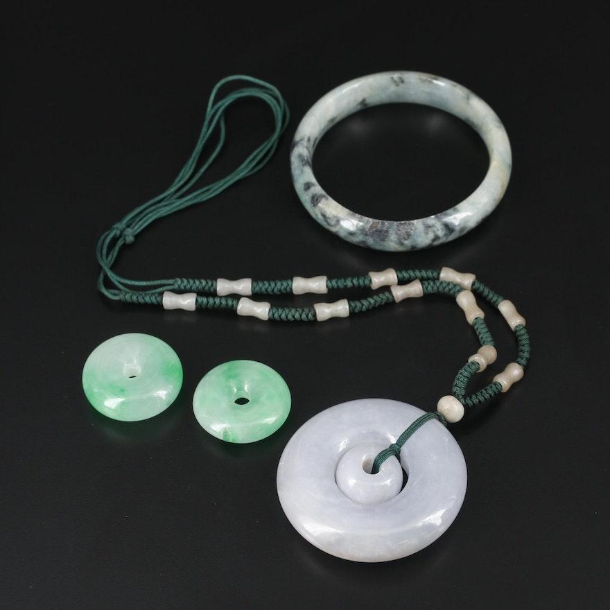 Jadeite Necklace, Bracelet and Pendants