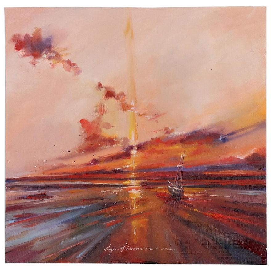 Inga Khanarina Oil Painting of Nautical Landscape, 2020