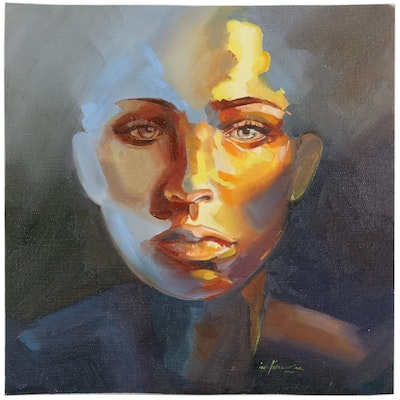 Inga Kranarina Portrait Oil Painting, 2020