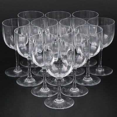 """Baccarat """"Montaigne Optic"""" Crystal Tall Water Goblets"""