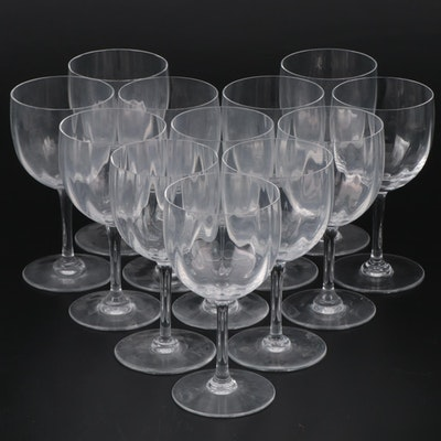 "Baccarat ""Montaigne Optic"" Crystal Water Goblets"