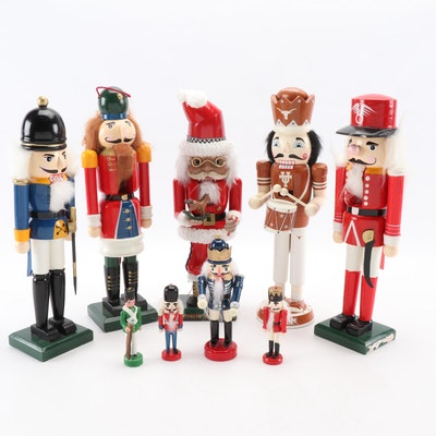Christmas Décor Including Nutcrackers and Figurines