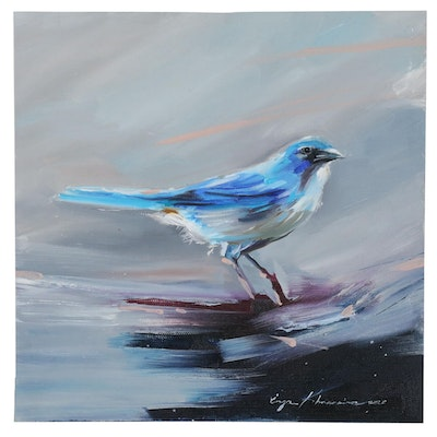 Inga Kranarina Oil Painting of Bird, 2020