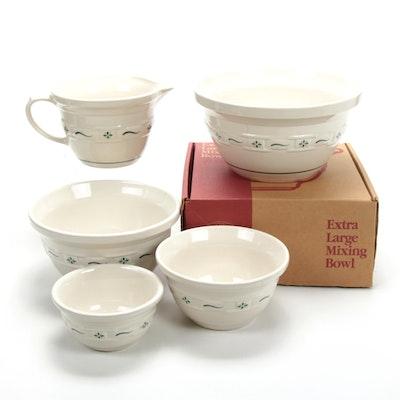 "Longaberger ""Woven Traditions Heritage Green"" Ceramic Bakeware Set"