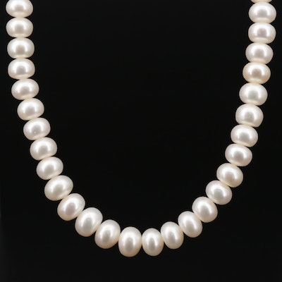 Honora Sterling Silver Graduated Pearl Necklace