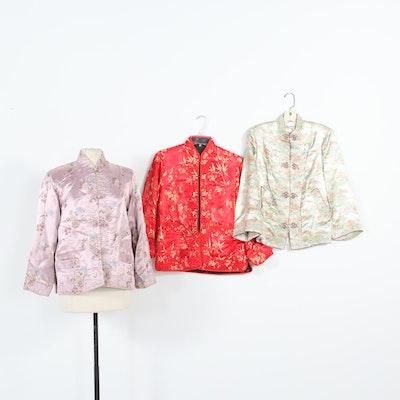 Chinese Satin Brocade Jackets, Vintage