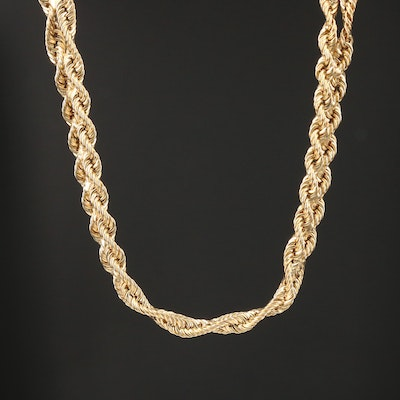 Aurafin 14K Yellow Gold Braided Chain