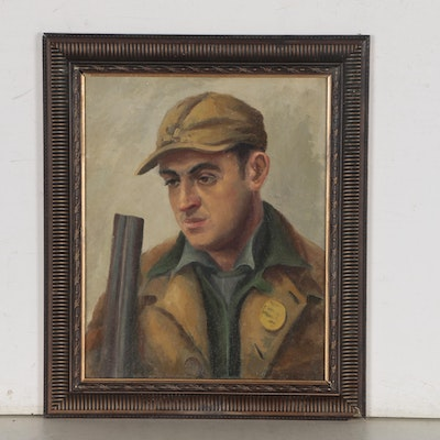 "Oil Painting ""The Hunter"", Early to Mid 20th Century"