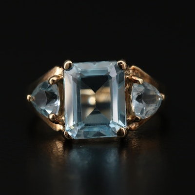 10K Gold Topaz Ring