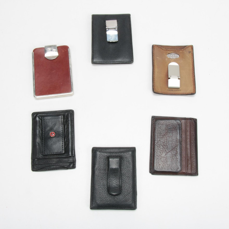 Fossil, Alpine Swiss, Guess and Other Leather Wallets, Vintage