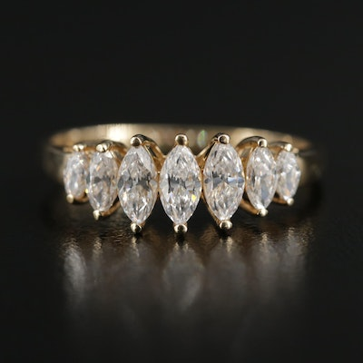 14K Yellow Gold Cubic Zirconia Ring
