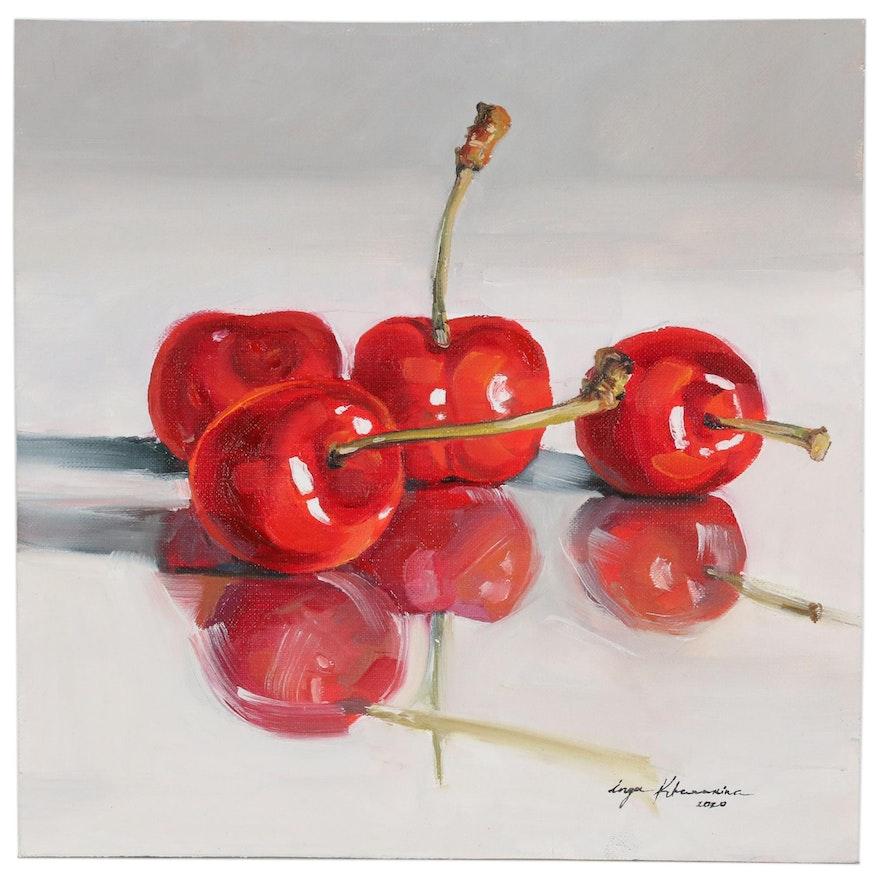 Inga Khanarina Oil Painting of Cherries
