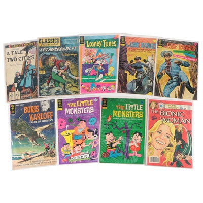 Comic Books Including Lone Ranger, Bionic Woman, Looney Tunes and More