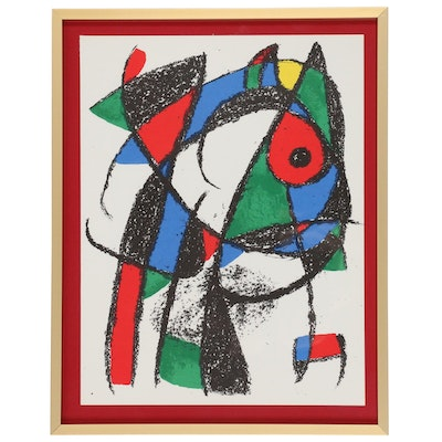 "Joan Miró Color Lithograph from ""Lithographe II"", 1975"
