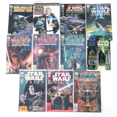 """""""Star Wars"""" Comic Books with One Action Figure"""
