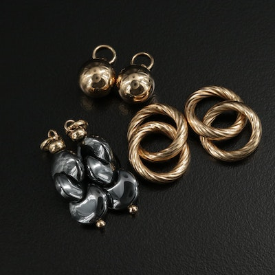 14K Yellow Gold Earring Enhancers