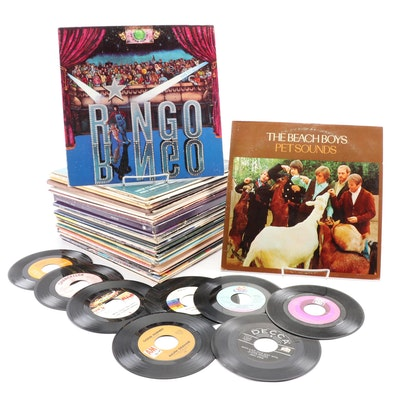 The Beach Boys and Other Rock-N-Roll and Easy Listening Vinyl Records