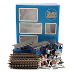 """LGB """"The Blue Train"""" G Gauge Locomotive, Cars, and Track in Original Packaging"""