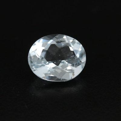 Loose 4.45 CT Aquamarine Gemstone