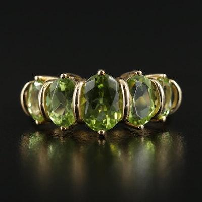 14K Yellow Gold Peridot Ring
