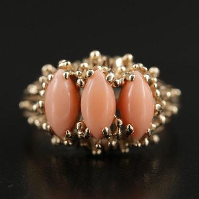 14K Coral Ring