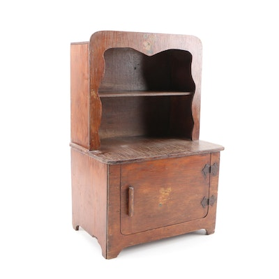 Child's Wooden Play Cupboard