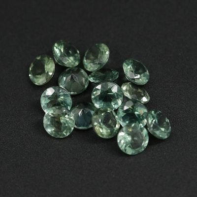 Loose 7.56 CTW Green Apatite Gemstones