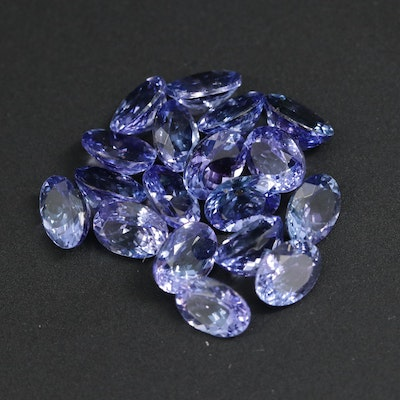 Loose 24.90 CTW Oval Faceted Amethysts