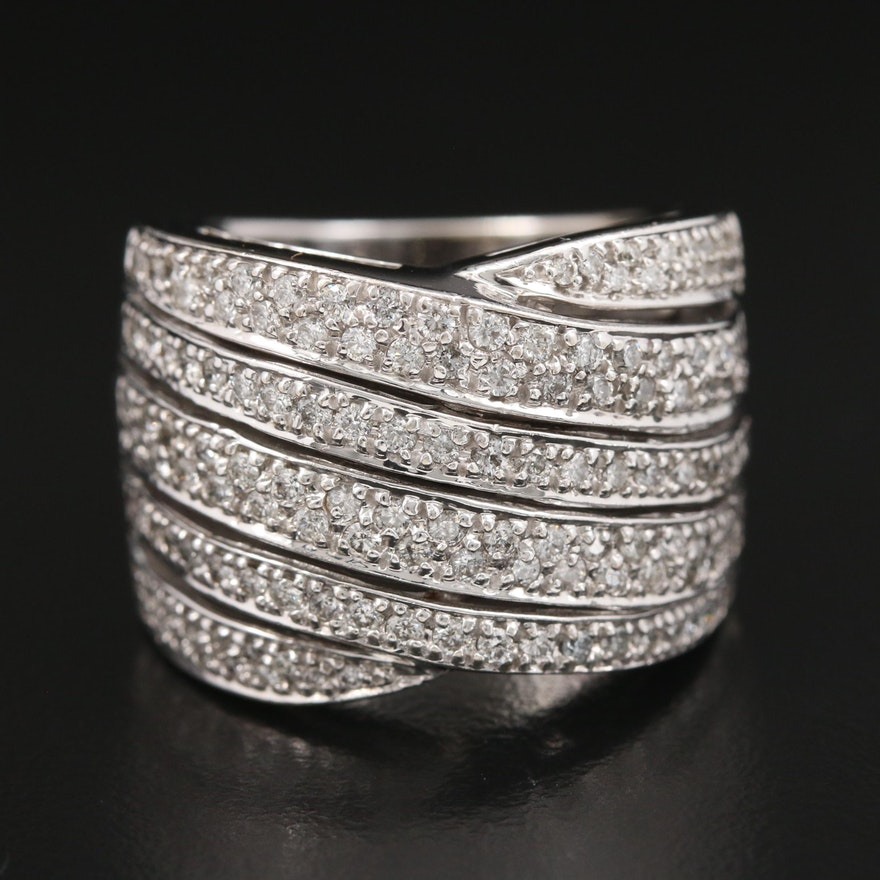 14K White Gold 1.50 CTW Diamond Ring