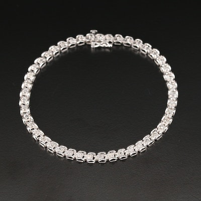 10K White Gold 0.67 CTW Diamond Link Bracelet
