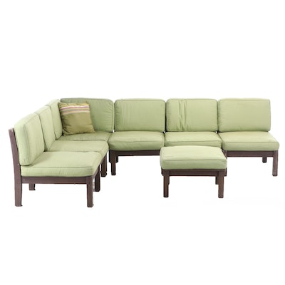 Pottery Barn Painted Teak Outdoor Sectional Seating