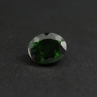 Loose 2.86 CT Oval Faceted Diopside