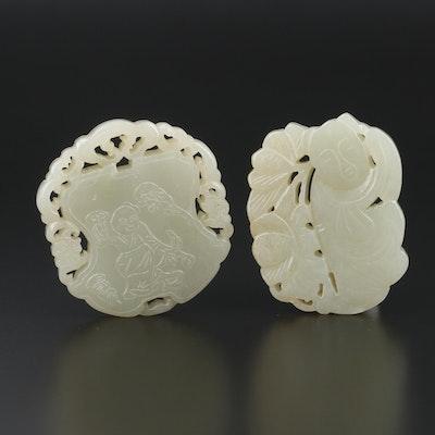 Carved Nephrite Pendants