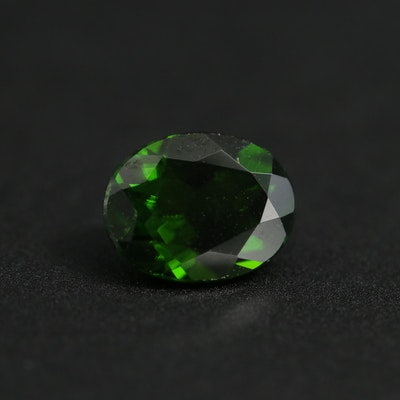 Loose 1.91 CT Oval Faceted Diopside