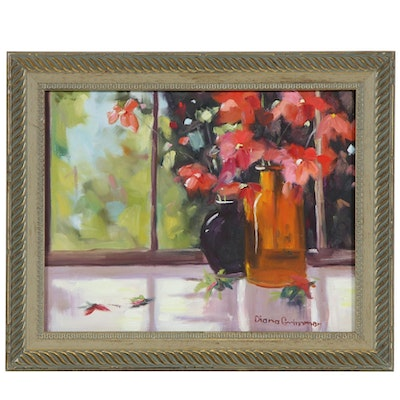 Diana Grimmer Floral Still Life Oil Painting