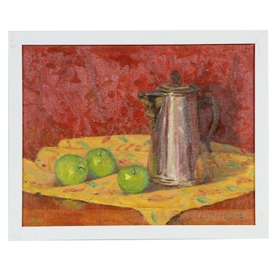 Emily Featherstone Still Life with Apples Oil Painting